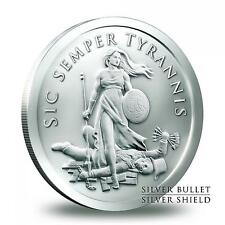 2014 5 oz Sic Semper Tyrannis BU Coa #113 Silver Shield Silver Bullet SBSS  777