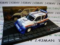 RIT 51 voiture 1/43 IXO  Rallye ITALIE MG METRO 6R4 Rac 1986 McRae