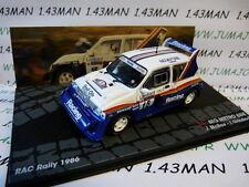 voiture 1/43 IXO  Rallye ITALIE MG METRO 6R4 Rac 1986 McRae