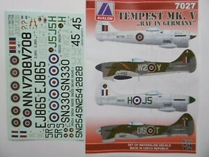 """Avalon Decals 1/72_ Hawker Tempest ,,RAF in Germay"""""""