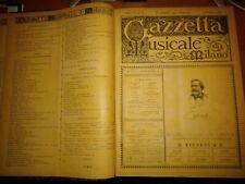 1889-GAZZETTA MUSICALE DI MILANO-RICORDI-MUSICA CLASSICA-OPERA LIRICA-RARO-52 N.