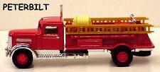 Golden Wheel 1:87 scale Peterbilt red Fire Truck with ladders in window box