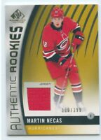 17/18 SP GAME-USED ROOKIE RC JERSEY #151 MARTIN NECAS 306/399 HURRICANES *51466