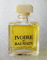 RARE Mini Eau Toilette ✿ IVOIRE de BALMAIN ✿ Perfume Parfum Miniature (7,5ml)