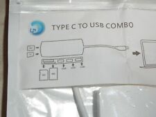 NEW Type-C to USB Combo Hub With SD/TF Card Reader Combo For Laptop Adapter