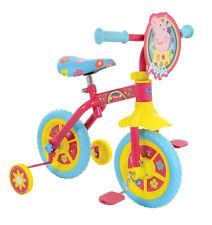 "Peppa Pig 10"" inch 2 In 1 Convertible Kids Girl Pink Balance Bike w/Stabilizers✅"