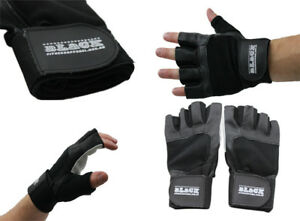 Real Leather Weight Lifting Exercise Training Workout Fitness Gym Sports Gloves
