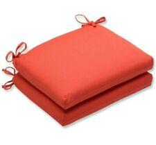 Sunbrella Outdoor Seat Cushions 2 Set Reddish Orange