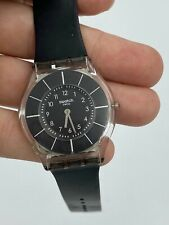 Swatch ULTRA THIN Skin Collection Black Classiness Slim Watch SFK361 2010