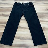 Levi's 559 Relaxed Straight Mens Black Corduroy Pants 40 x 32