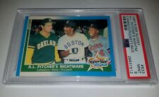 1987 FLEER GLOSSY #633 CANSECO PUCKETT RICE PITCHERS NIGHTMARE CARD PSA 9 MINT