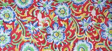 Sanganeri Running Hand Block Print Pure 100% Cotton Fabric 3 Yard Indian Red