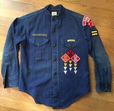 Vintage Cub Scout uniform & paraphernalia circa 1966 Webelos patches knife book