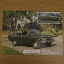 DATSUN 120Y SALOON UK Market Sales Brochure Flyer Sheet 1976 - 1977