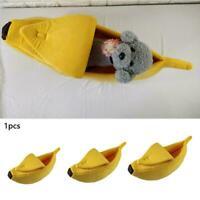 Haustier Hund Katze Bett Sofas Bananenform Hundehütte Cute Pet Nest Zwinger H2I0