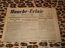 Journal MANCHE-ECLAIR, éd. du Sud de la Manche - n° 43, 26/10/1946