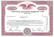 INDUSTRIAL ELECTRONIC HARDWARE CORP.......1976 COMMON STOCK CERTIFICATE