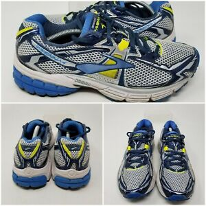 Brooks Ravenna 4 Silver Blue Athletic Running Tennis Shoes Sneaker Womens Size 8