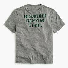 UNOPENED NWT J. CREW MEN'S TRIBLEND T-SHIRT IN TRAIL GRAPHIC / MEDIUM