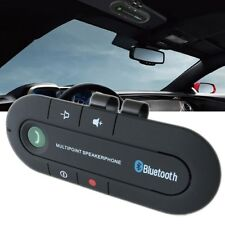Hot Black Wireless  Bluetooth Hands Free Car Kit Speakerphone Speaker Visor Clip