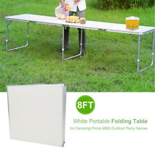 NEW HEAVY DUTY FOLDING TABLE 8 FT CAMPING PICNIC BANQUET PARTY GARDEN TABLES 8FT