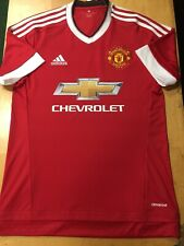 adidas manchester united Home Jersey 15/16 Size Extra Large   Only