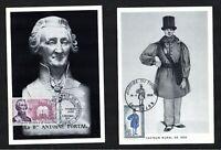 Cartes Maximum (x2) France 1968 1°Jour: Facteur Rural n°1549 & n°1699, cote 20€