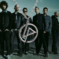 Vintage Retro Punk Style Linkin Park Inspired Symbol Logo Chain Pendant Necklace