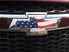 2013 14 15 CHEVY MALIBU AMERICAN FLAG GRILLE TRUNK BOWTIE EMBLEM OVERLAY DECALS