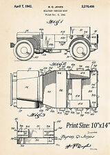 Willys Jeeps World War II Gifts For Military Us Army Patent Posters Veteran GPW