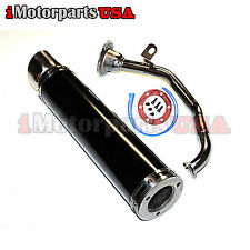 CHINESE GY6 125CC 150CC SCOOTER HIGH PERFORMANCE EXHAUST PERFORATED MUFFLER PIPE