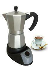 3 Cup Electric Aluminum Espresso Coffee Maker, 400 W, Silver