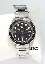 SEIKO 5 Automatic SPORTS 100m SRPB91K1 Cal 4R35 23 Jewels NEW Stainless BLACK