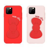 Sanrio Authentic Hello Kitty Bowknot Silicon Soft Case for iPhone 11 Pro MAX S