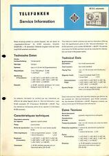 Telefunken Service Manual für M 212 a