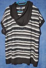 Cecil Pullunder Pulli Pullover Oberteil grau-weiß Gr. XL  -  gut erhalten