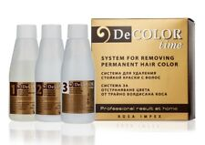 HAIR COLOR REMOVER DECOLOR TIME NO AMMONIA REMOVE COLOR FROM DYED HAIR NO DAMAGE
