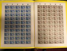 """ALLEMAGNE POSTE AERIENNE 38 / 39 """" SUDAMERIKA FAHRT 1930"""" NEUFS xx REPRODUCTIONS"""
