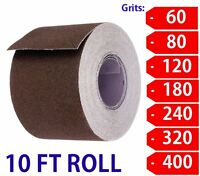 "1-1/2"" Wide Emery Cloth 10ft Roll, Aluminum Oxide Cloth Back 600 Grit-Super Fine"