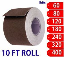 "2"" Wide Emery Cloth 10ft Roll, Aluminum Oxide, Cloth Back 320 Grit-Extra Fine"