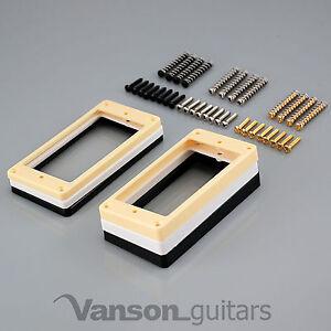 2 x Flat Base Mounting Rings & Screws for Epiphone SG, etc / humbucker surround