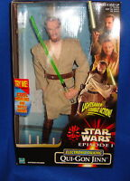 Star Wars Episode 1 Electronic Talking Qui-Gon Jinn Figure MIB