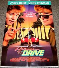 LICENSE TO DRIVE 1988 ORIG. MOVIE POSTER! COREY HAIM & COREY FELDMAN TEEN COMEDY