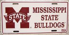 NCAA Aluminum License Plate Mississippi State Bulldogs NEW