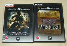 2 PC SPIELE SAMMLUNG - MEDAL OF HONOR PACIFIC ALLIED ASSAULT WAR CHEST SPEARHEAD