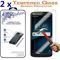 2x For Motorola Moto X Force Ballistic Tempered Glass Screen Protector