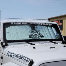 Jeep Wrangler JK 2007 - 2018 Sun Shade Heat Shield Black Mountain Logo