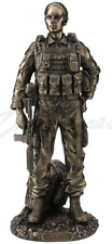 Defend And Serve - Female Soldier Statue Sculpture Figurine - New in Box