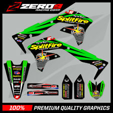 KAWASAKI KX KXF 125 250 450 MOTOCROSS GRAPHICS SPLIT KIT SPLITFIRE GREEN