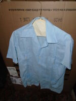 Vintage Men's D'Carlos Size 38 Dress Shirt 4 Front Pockets Embroidered Buttons